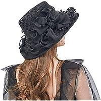 Yiwuhu Puede Doblar el Sombrero Femenino Lace Bowknot Sombrilla Sombrero Summer Outdoor Sun Hat. Simple