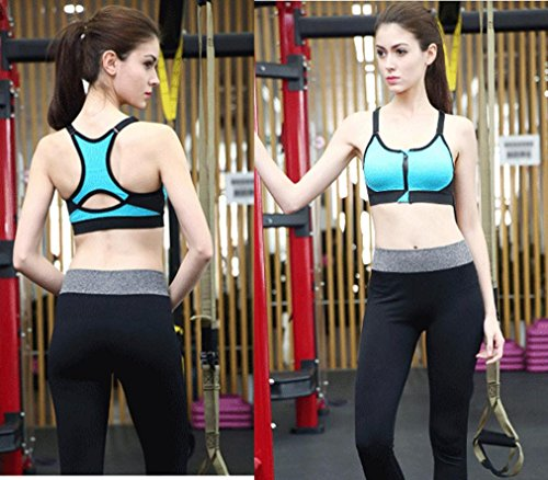 Sous-vêtements de sport, Ineternet Femmes Sexy Anti-dérapant Rembourré Haut Gilet Athlétique Gym Fitness Bra Confort Yoga Stretch Intimates Bleu