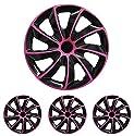 Fussmatten-Deluxe 004-111-11 Radkappen Radblenden Radzierblenden 4 Stück -Farbe und Größe wählbar- 13 Zoll 001_pink universal für Standardstahlfelgen