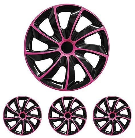 Radkappen Radblenden Radzierblenden Quad Pink 14 Zoll 14? R14 universal passend für fast alle Fahrzeuge mit Standardstahlfelgen z.B. Isuzu