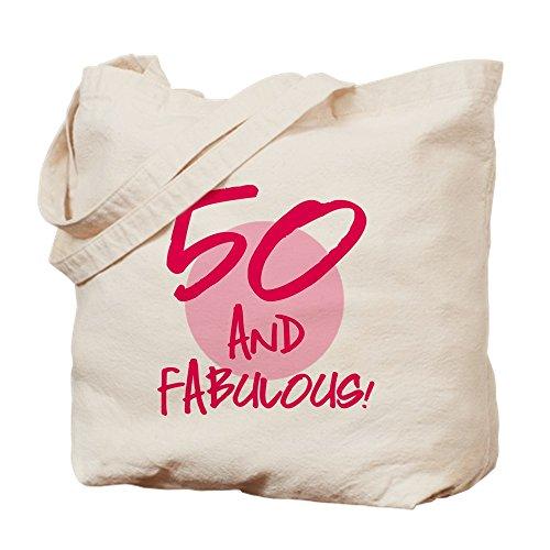 CafePress 50 and Fabulous Tragetasche, canvas, khaki, S