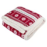 Best unknown Blankets - Micro-Pro Red Snowflake Design Luxury Fleece Blanket Soft Review
