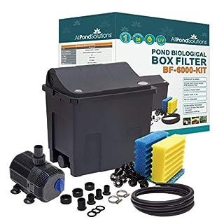 All Pond Solutions Koi/Goldfish Pond Filter Box Full Kit, Small, 9 W