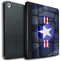 STUFF4 PU Pelle Custodia/Cover/Caso Libro per Apple iPad Pro 9.7 tablet / L'america/blu / Aereo caccia Ala