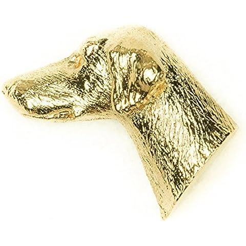 Dobermann Made in UK, Collezione Distintivo Spilla Artistici Stile Cani (con la placcatura d'oro 22 carati)