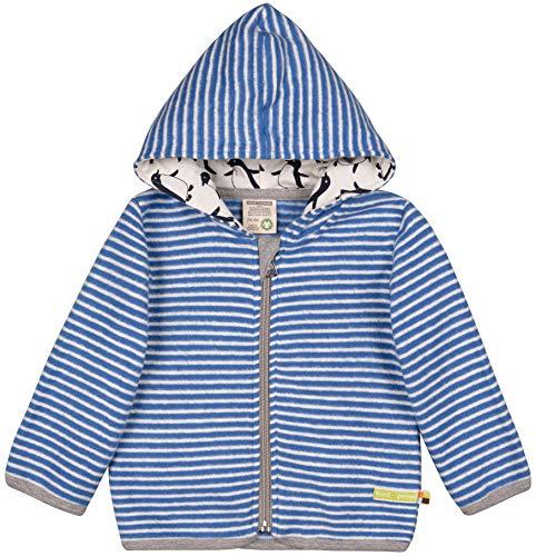 loud + proud Unisex Baby Jacke Fleece Aus Bio Baumwolle, GOTS Zertifiziert Sweatjacke, Blau (Cobalt Cob), 56 (Herstellergröße: 50/56)