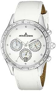Jacques Lemans La Passion Damen-Armbanduhr Capri Analog Leder 1-1646B