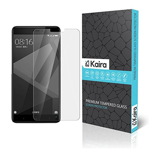 Kaira Xiaomi Redmi 4 [May 2017 Release] Screen Protector, Premium Oil Resistant Coated Tempered Glass Screen Protector Film Guard for Xiaomi Redmi 4 [May 2017 Release]