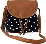 #9: Kleio Women's Sling Bag (Black And Brown,Bnb315Ly-Bl)