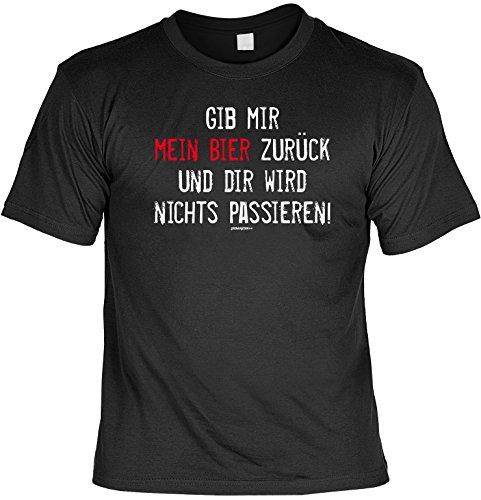 cooles witziges Damen Herren T-Shirt Farbe schwarz Motiv lustiger Spruch ideales Geschenk Geburtstag lässiges Outfit Schwarz
