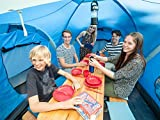 Skandika Daytona XXL blau, hellblau Familien-Zelt für 6 Personen, wasserdicht - 6
