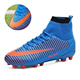MAXTOP Chaussures de Football Homme High Top Adulte Professionnel Chaussure de Foot Athlétisme Entrainement Chaussures de Sport(EU 39-45)