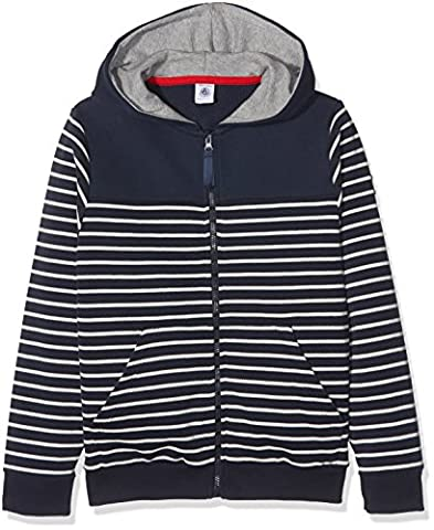Petit Bateau Boy's Sweat Sht A Capuche Smo/Co Hoodie, Multicoloured (Smoking/Coquille), 5 Years (Manufacturer Size:5A 5Ans)