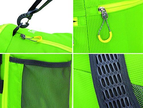 avanigo Sport Duffel Tasche Multifunktional Reisen Turnbeutel 43,2cm schwarz