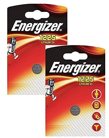 Energizer CR1225 BR1225 Lot de 2 piles-boutons au lithium sous blister 3 V