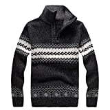 Yvelands Herren Sweatshirt Pullover Snow Printed Sweater Langarm Bluse Reißverschluss Shirt