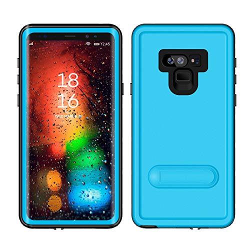 Wendapai Samsung Galaxy Note 9 Hülle, Luxury Schutz Metal Extreme stoßfest Cellphone Case Bumper Finger Scanner Cellphone Case Hülle Hülle Skin Protector zum Samsung Galaxy Note 9 Light Blue