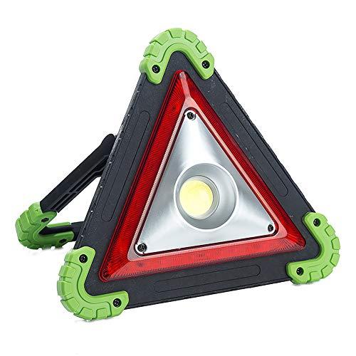 lymty Rotes Notfallsicherheits-Dreieck mit reflektierender Beleuchtung am Straßenrand mit LED-Licht für Fahrzeuge, dauerhafte Beleuchtung und Flimmerbeleuchtung