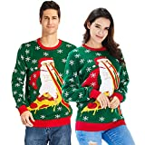 Goodstoworld Ugly Christmas Sweater Men Woman Couple Xmas Jumper Unisex Funny Vintage Elf Knitted Pullover Natale