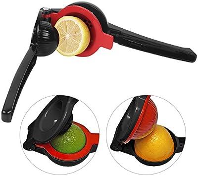 Prensa para Limones Aluminio Duradero Utensilio a Mano para Limones Naranja Color Negro - Uvistare