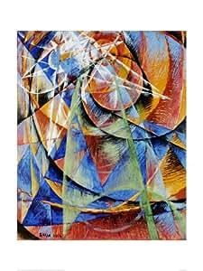 Mercure Passant devant le soleil Art Poster Print Par Giacomo Balla 61 x 82