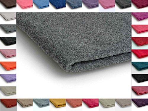 Dunkelgraue Sweatshirts (Werkstoff Polar Vlies, Stoff Handwerk 410 g/m² - Erhältlich in 35 Farben - 50 x 155cm (Dunkelgraue melange Nr 68))
