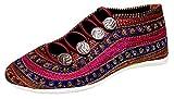 Indian Handicraft Syntheic Woman/Girl Fashion Shoe Multicolour Size - 38.5 EU