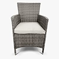 BillyOh Garden Furniture Rattan Dining Chair 2 Set Cane Chairs Hand Woven Classic Natural