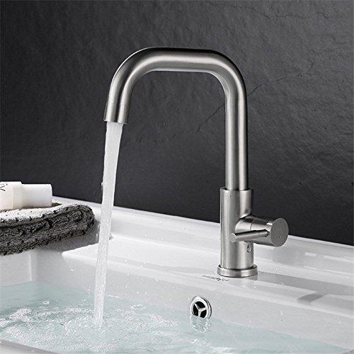 ETERNAL QUALITY Bad Waschbecken Wasserhahn Küche Waschbecken Wasserhahn Edelstahlhahn Drahtziehen Rotation Waschtischmischer BEG843