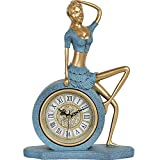 WJB Kaminuhren Sperren Sie Dekoration Handwerk, Möbel nach Hause Mode Uhr Harz 19.5x27x7.5cm sitzen