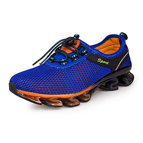 GOMNEAR Herren Laufschuhe Atmungsaktiv Straßenlaufschuhe Turnschuhe Freizeit Sportschuhe Blau