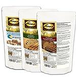 """Dr. Almond Paleo Brot Backmischung PROBIERPAKET """"DUNKEL & KERNIG"""" low-carb glutenfrei sojafrei (3er Pack mit 3 Sorten), Das Original LIMITED EDITION!"""