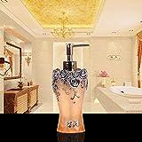 MWPO Seifenspender/Lotion Flasche Europäischen Kreative Harz Seifenflasche Silber Blume Push...