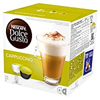 NESCAFÉ DOLCE GUSTO Cappuccino Coffee Pods, 16 capsules (Pack of 3 - Total 48 Capsules, 24 Servings)