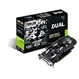 ASUS DUAL-GTX1050TI-O4G-V2 4 GB Series GeForce GTX 1050 Ti OC Edition GDDR5 PCI Express Graphics Card - Black