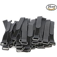 pasow bridas de velcro con correas de hebillas de plástico final alambre cable y reutilizable gancho Loop–8)