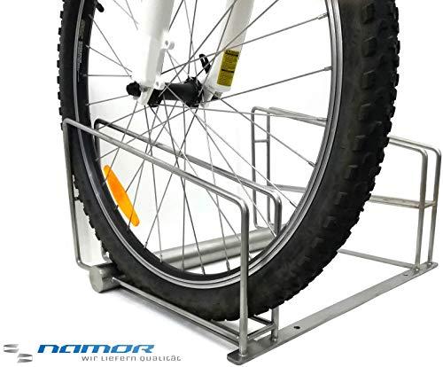 Namor Bügelparker | Fahrradständer für 2 Fahrräder | Made in Germany | Edelstahl Rostfrei | Fahrradhalter | Fahrradparker | Design Produkt -