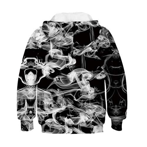 borenes Bekleidungssets Outfits Herbst Warm Jumpsuit Kleinkind Teen Girl Boy Print Sweatshirt Tasche Pullover Hoodie Tops ()