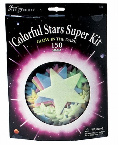 university-games-29108-great-explorations-set-di-stelle-fluorescenti-colorare
