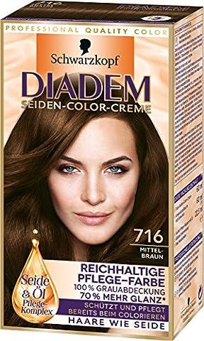 Diadem Seiden-Color-Creme, 716 Mittelbraun, 3er Pack (3 x 142 ml)