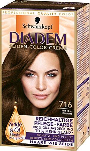 Seiden-schimmer-glanz (Diadem Seiden-Color-Creme, 716 Mittelbraun, 3er Pack (3 x 142 ml))