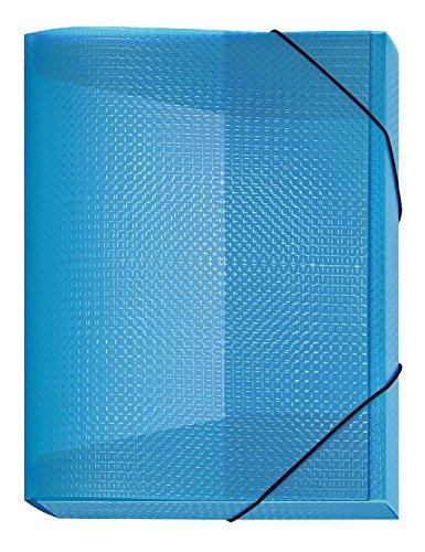 Veloflex 4443751 Sammelbox Velocolor, DIN A4, mit Gummizug, Dokumenten-Box, Heft-Box, aus PP-Material, blau