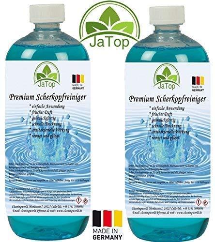 JaTop Scherkopfreiniger 2000ml Nachfüllflüssigkeit für Reinigungskartuschen.Geeignet für Braun CCR Kartuschen + gängige Kartuschen -