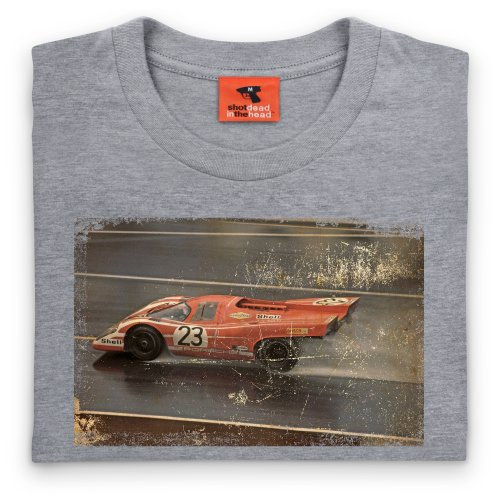 917 1970 Classic Racing Car T-shirt, Uomo Grigio mlange