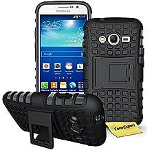 Samsung Galaxy Grand Neo Plus Funda, FoneExpert® Heavy Duty silicona híbrida con soporte Cáscara de Cubierta Protectora de Doble Capa Funda Caso para Samsung Galaxy Grand Neo Plus i9060 / Galaxy Grand Neo + Protector Pantalla (Negro)