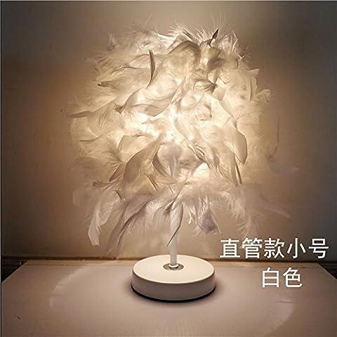 Lampes en plumes , TOUT DROIT 33*25cm interrupteur bouton