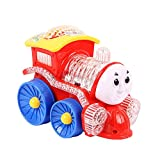 #4: Flipzon Funny Loco Train Bump & Go Engine with Flashing Led Lights, Assorted Color, Multi Color