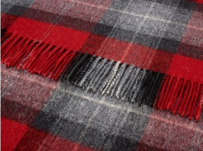 Bronte Throws Red Skye Check Merino Lambswool Throw Large Check