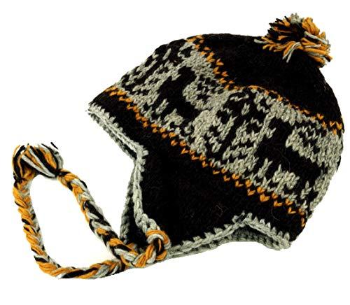 Guru-Shop Wollmütze mit Ohrenklappen - 10, Herren/Damen, Braun, Size:One Size,...