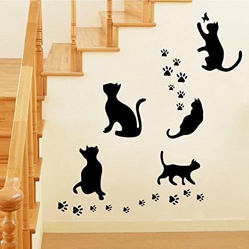 sveglio-creativo-gatti-neri-della-parete-della-adesivi-impermeabili-smontabili-per-camera-da-letto-s